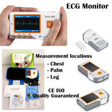 Handheld ECG Portable LCD EKG Heart Monitor Electrocardiogram Software USB Leg Palm Chest  CE approved