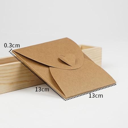 13*13cm Kraft Paper DVD Sleeve CD Packaging Box Cases CD DVD Packing Cover Holder Boxes Envelopes For Party Wedding Baby Shower