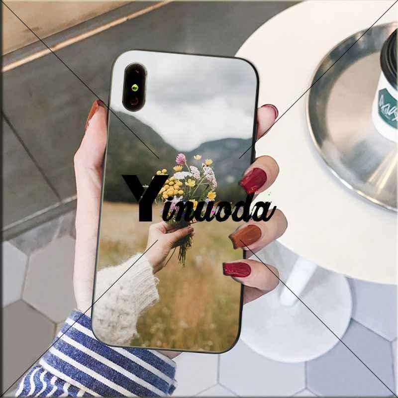Yinuoda Vàng Hoa Daisy Nhỏ Hoa Hướng Dương Coque Vỏ Ốp Lưng Điện Thoại Cho Iphone X XS Max 6 6S 7 7plus 8 8Plus 5 5S XR