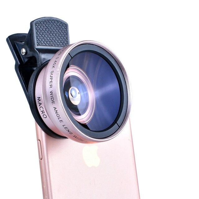 Novo HD 37 MM 0.45x Lente Super Grande Angular com Lente Super Macro 12.5x para iphone 6 plus 5s 4s samsung s6 s5 note 4 lente da câmera Kit