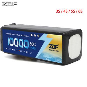 ZDF 3S 4S 5S 6S 11 1V 14 8V 18 5V 22 2V 10000mah 50C akumulator li-po dla RC UAV drone 1 5 1 8 1 10 wyścigi Bigfoot samochodów wspinaczkowy tanie i dobre opinie Materiał kompozytowy Baterii Bateria litowa Baterie litowo-polimerowe Pojazdów i zabawki zdalnie sterowane ZDF10000mAh50C