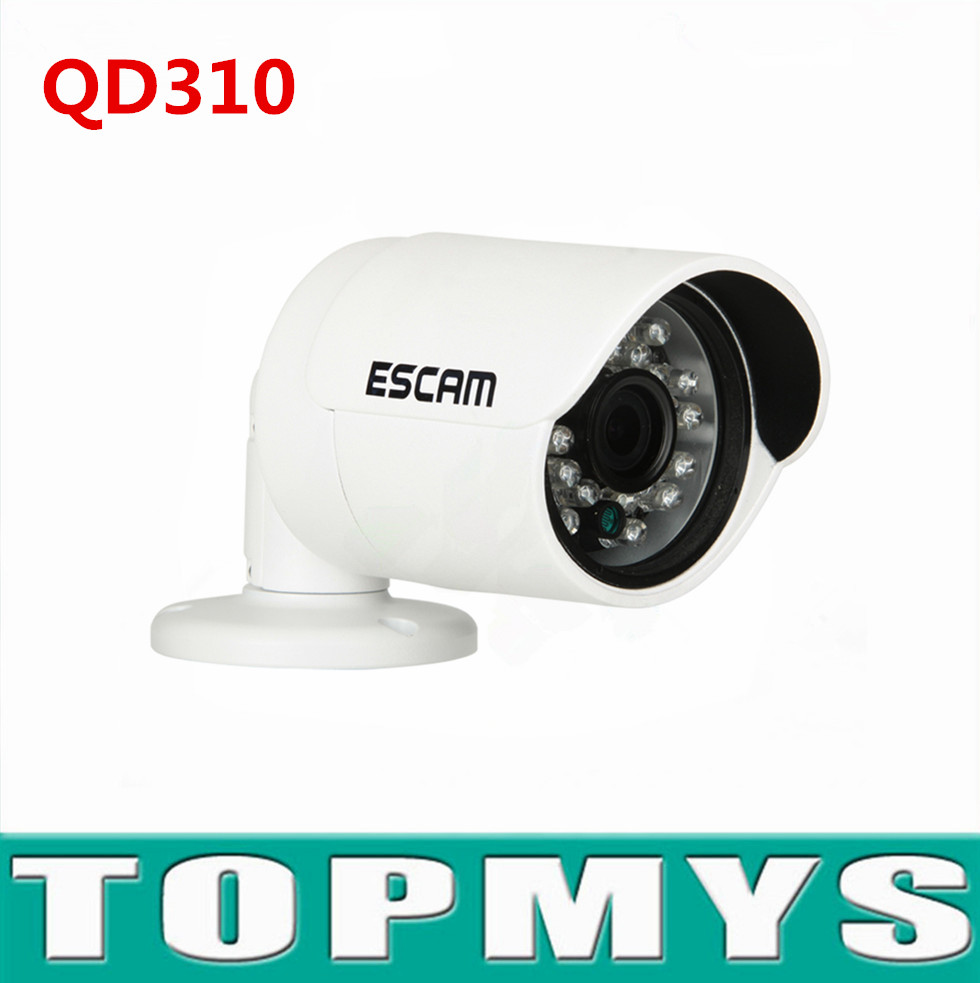 Escam mini Wireless bullet IP Camera QD310 720P HD network CCTV IP camera 1MP day night vision waterproof IP66 P2P Camera onvif h 264 1mp hd 720p ip camera poe outdoor ip66 network 1280 720 bullet security cctv camera p2p onvif night vision 40m ip camera