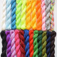 25M Shamballa Beads Bracelet Thread 1mm Polyester Cord Chinese Knot Macrame Rattail Cord For DIY Fashion Jewelry Findings Z471 недорого