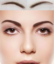Frete grátis do wemon falso sobrancelha, Feito à mão 100% cabelo humano sobrancelhas, Sobrancelhas falsas, Invisível laço suíço cabelo base de sobrancelhas