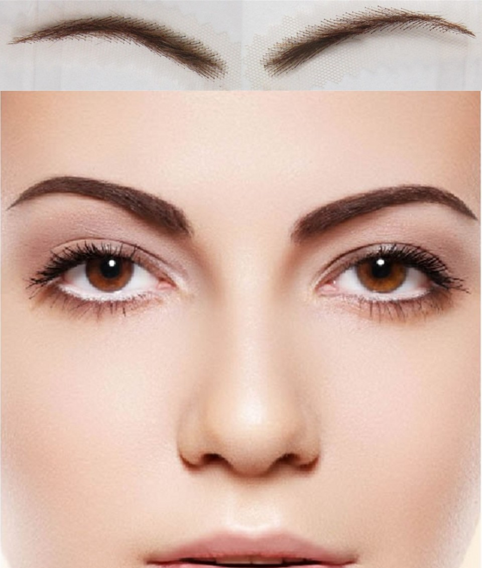 To Long-lasting Natural Wear Card Eyebrow 2018 Real Sobrancelha Women's Fake Eyebrow, New Arrival Human Hair Eyebrows Rushed 2018 promotion hot sale natural eyebrow sobrancelha flat straight eyebrows straight brows with 100