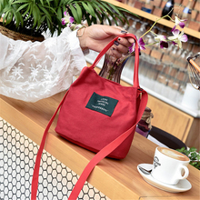 Women Canvas Tote One-shoulder Hand Bucket Bag Color Original Vintage Small Fresh Canvas Shoulder Bag Literary Casual Cloth Bag trendy color block and canvas design women s tote bag
