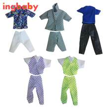 Royal Dress Doll Clothes Handsome Prince Suit Sportswear Shirt Pants Shirt /set Male Doll Suit Suit Color Random ingbaby WJ882(China)