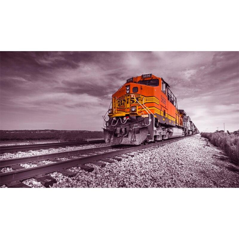 Full Square Drill 5D DIY Train railroad rocks clouds diamond painting Cross Stitch 3D Embroidery Kits  H81