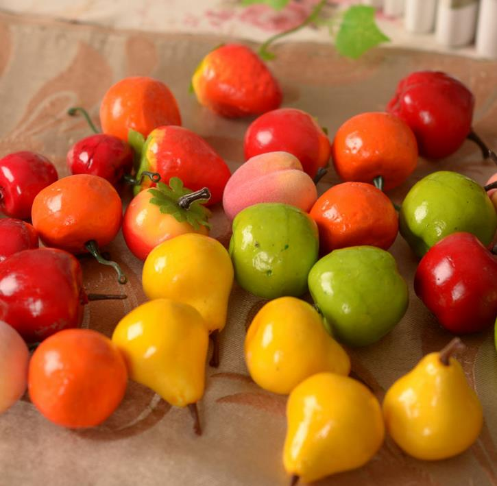 20pcs Mix Diffe Fruit Artificial Foam Mini Fruits Food For Festival Decoration Kitchen Table Wedding Party Vegetable In Dried