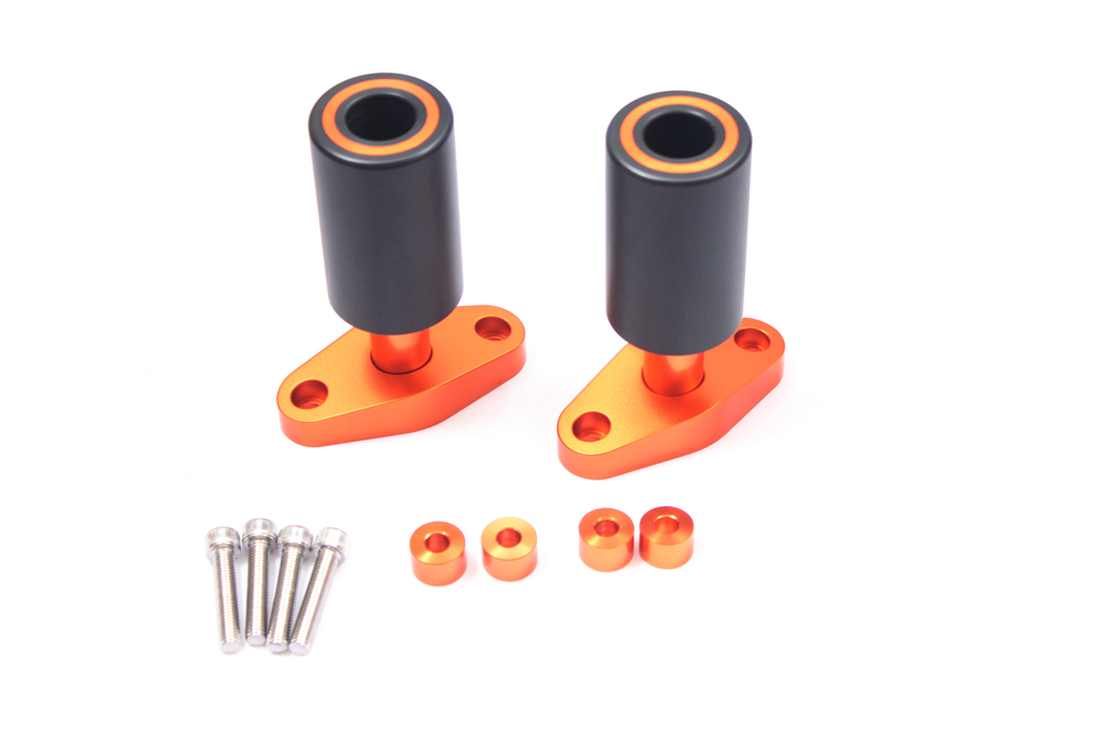 Brand new Orange CNC Frame Sliders Protectors Guard For KTM DUKE 125 200 390 2012 2013 2014 2015 image