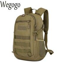 68fea697b0cc Mens Canvas Bags Waterproof Molle Backpack Military 3P School Trekking  Ripstop Woodland Gear Men Assault Cordura