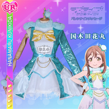Anime Lovelive  Sunshine Aqours Kunikida Hanamaru Cosplay Costume  Dress Awaken the power   Lolita Dress+Skirt  H love live sunshine aqours anime kanan mari chika yoshiko ruby dia hanamaru kunikida happy party train birthday rubber keychain
