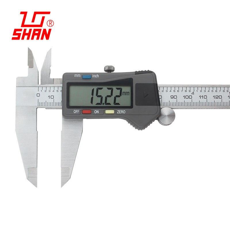 Ferramenta de Medição Eletrônica do Calibre do Calibre da Pinça do Lcd da Elevada Precisão de 0-200mm 0.01mm de Digitas Plástica Vernier