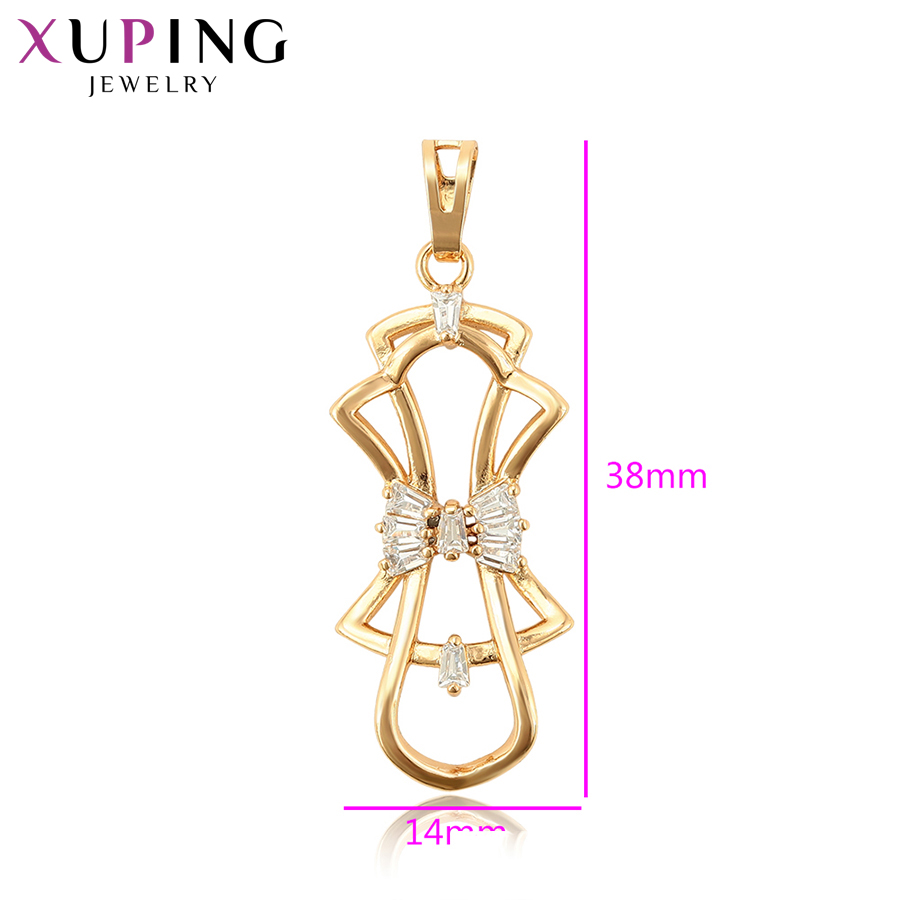11.11 Deals Xuping Romantic Bow Tie Style Pendant High Quality Elegant Jewelry for Women New Years Day Gifts S116,2-32331