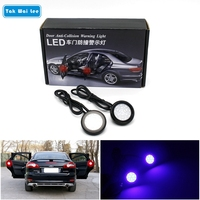 2Pcs Set 18Chips LEDs Car Styling Door Anti Collision Warning Light DC12V 0pen Door Safety Signal