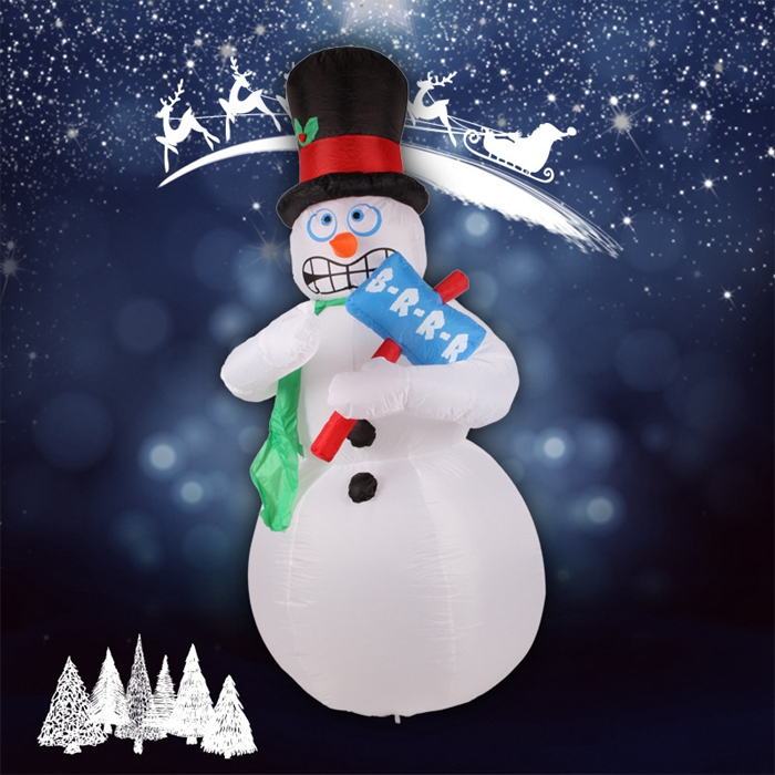 Inflatable Animated Shivering Snowman Shivers and Shakes Christmas Yard Decoration With Led Lights