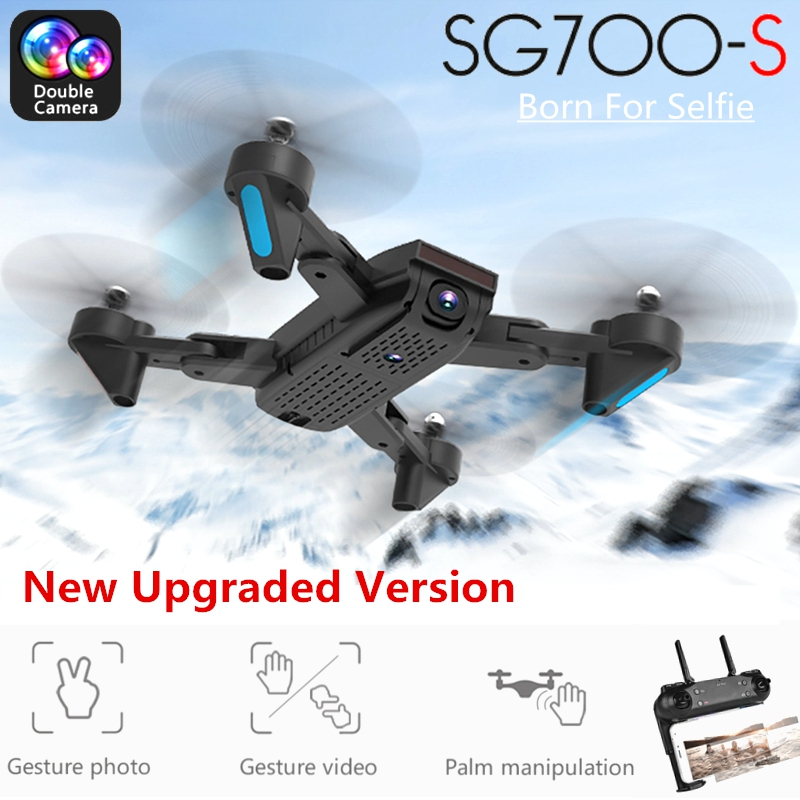 SG700-S RC Drone with Camera 1080P Wifi FPV Foldable Quadcopter Selfie Drone Optical Flow Dual Camera Palm Control Flying ToysSG700-S RC Drone with Camera 1080P Wifi FPV Foldable Quadcopter Selfie Drone Optical Flow Dual Camera Palm Control Flying Toys