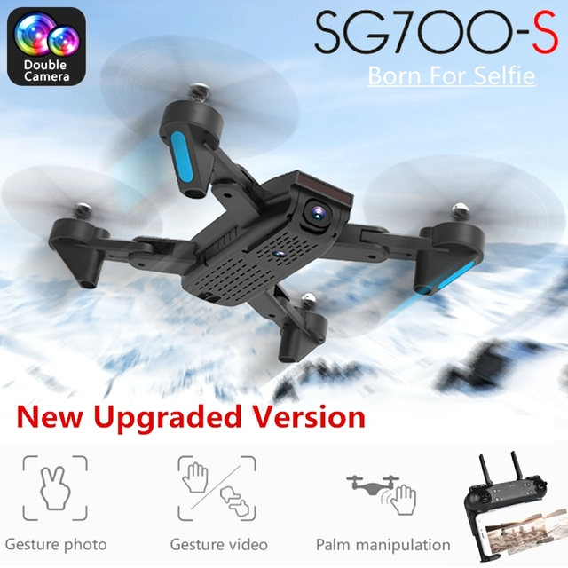 SG700-S RC Drone with Camera 1080P Wifi FPV Foldable Quadcopter Selfie Drone Optical Flow Dual Camera Palm Control Flying Toys