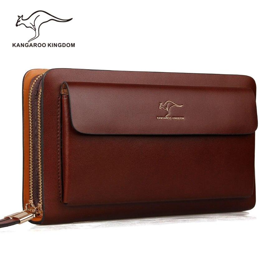 Kangaroo Kingdom Luxury Designer Brand Handbags Split Leather Big Capacity Men Clutch Bags Business Hand Bag for ManKangaroo Kingdom Luxury Designer Brand Handbags Split Leather Big Capacity Men Clutch Bags Business Hand Bag for Man