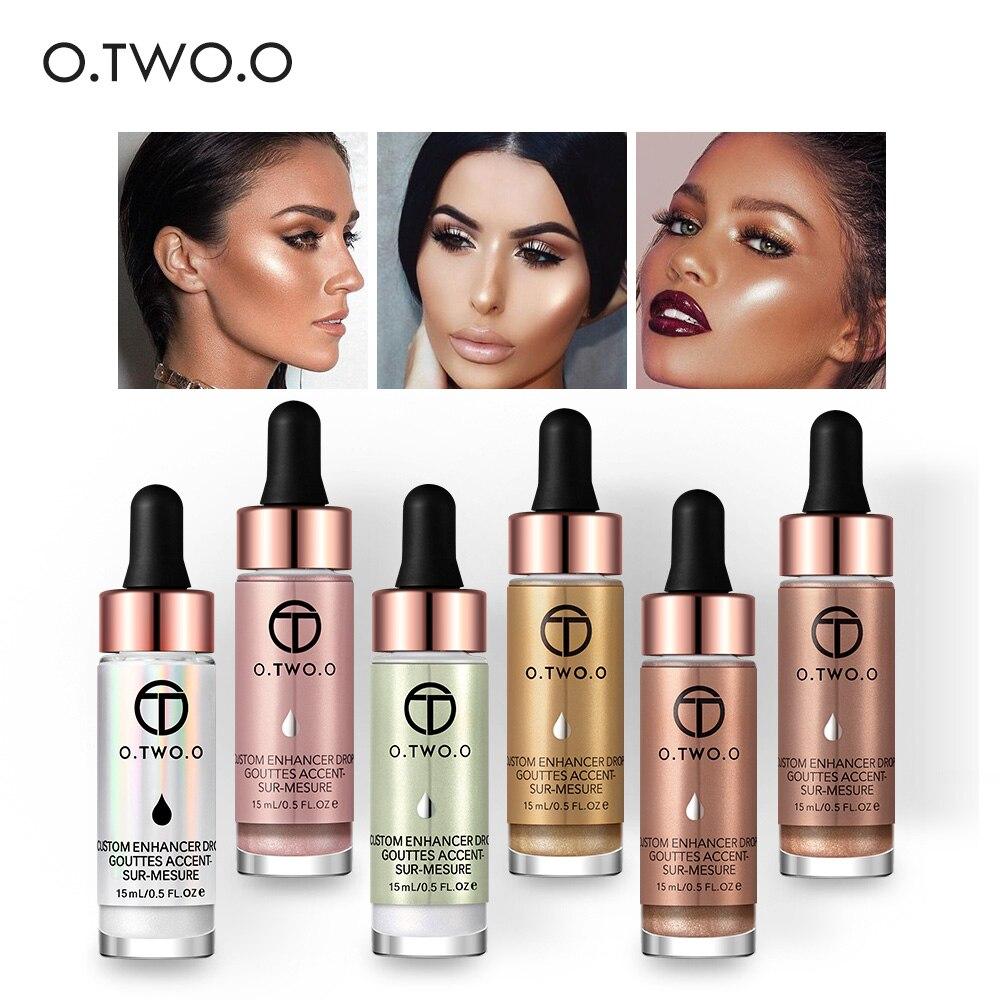 O.TWO.O Iluminador líquido para maquillaje, iluminador líquido de brillo para rostro, gotas de bronceado muy concentradas