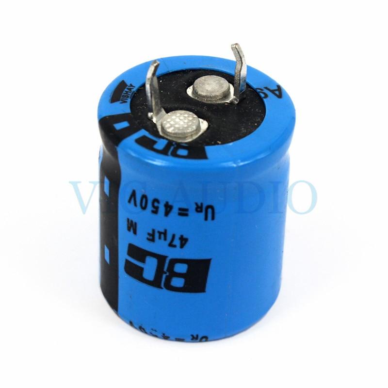 DIY erősítő tartozékok HIFI kondenzátor VISHAY BC 450V 47UF kapacitáserősítők Elektrolit kondenzátor szűrő 1Fe Ingyenes szállítás