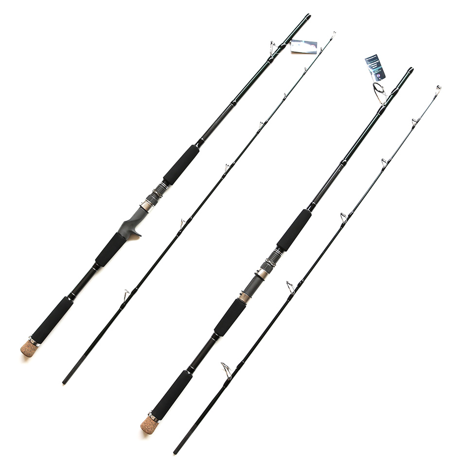 Castfun 1.8m/2.1m FUJI RING AND REEL SEAT Sea Fishing Boat Rod High Carbon Casting/Spinning Rod Canne Fishing Rod noeby 2section 1 8m 2 13m m ml casting fishing rod fuji rings and reel seat bass rod canne a peche varas de pesca para rios olta