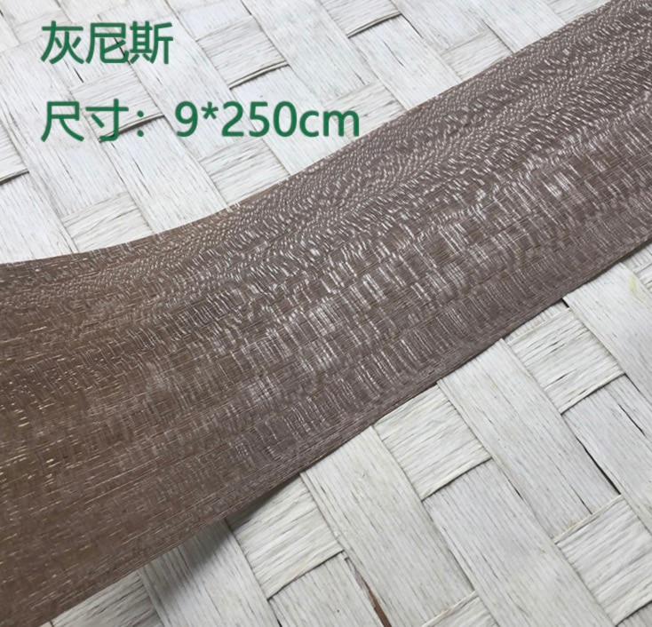 5Pieces/Lot  L:2.5Meters Width:9cm Thickness:0.25mm  Nice Ash Wood Veneer  Leather Veneer Technology