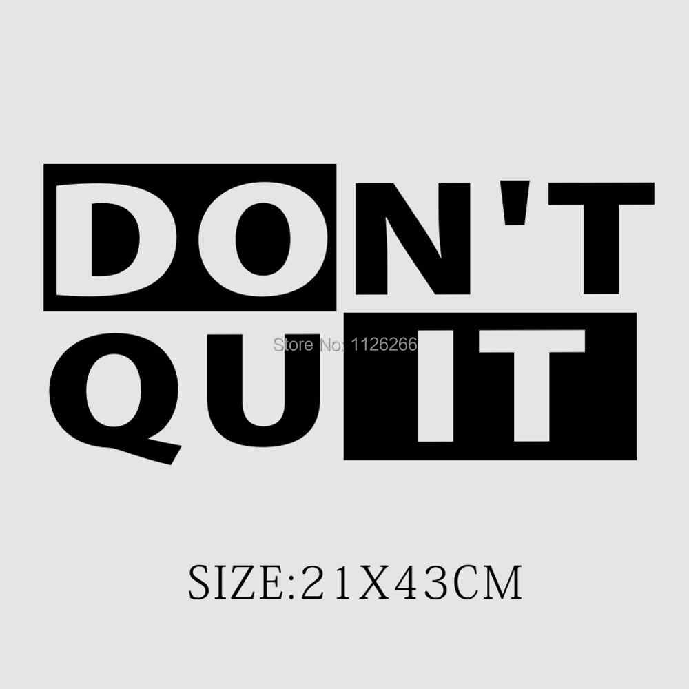 Don\'t Quit Workout Motivational Fitness Gym Life Quote Vinyl Wall Decor  Sticker