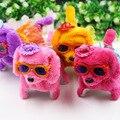 Домашние животные СОБАКИ Электронные 2016 новые очки носить юбки и шляпы плюшевые игрушки собаки будет называться блестящий назад, чтобы собака электрический игрушки