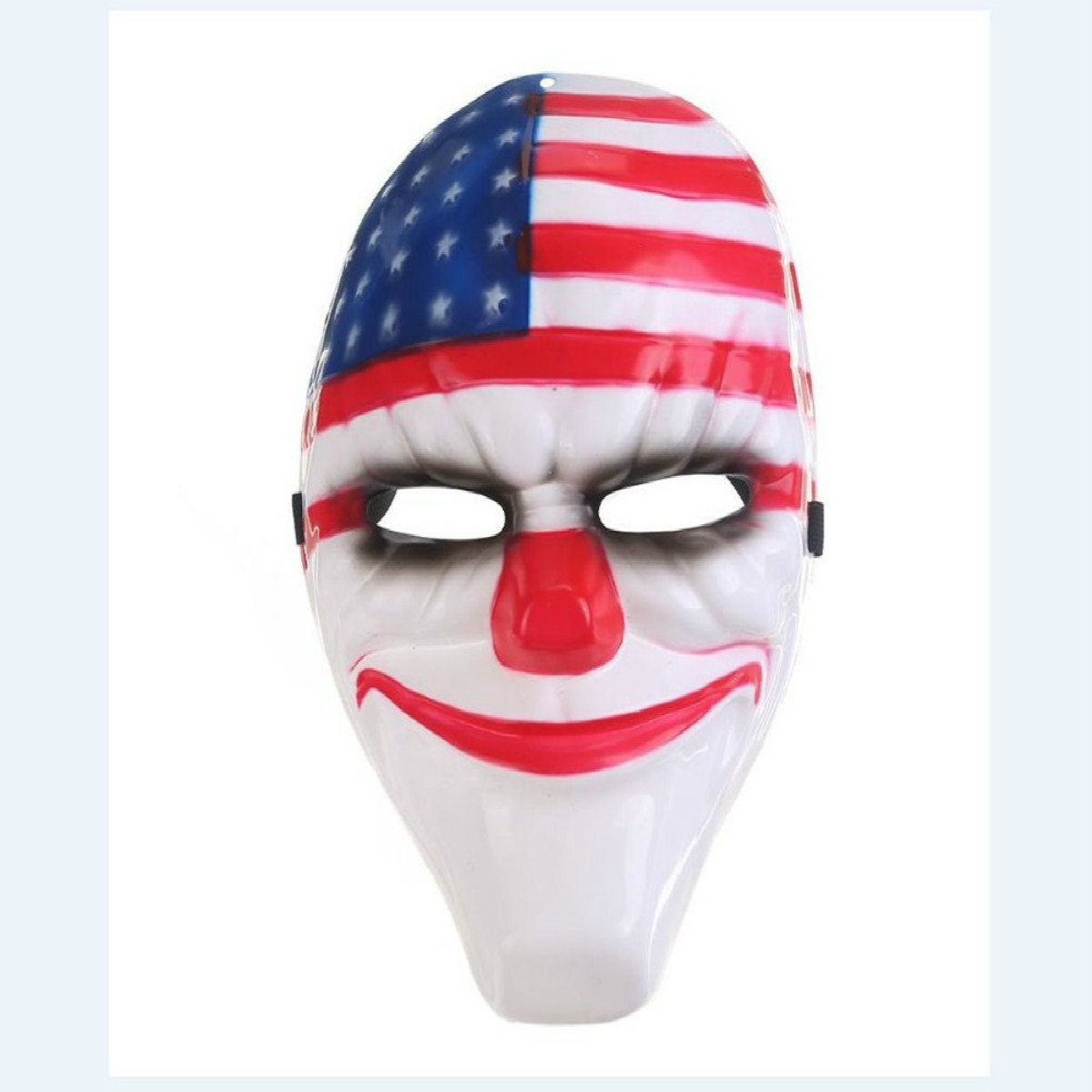 Adult Full Face Scary Prop Hockey Red Head Killer Clown Halloween Costume Cosplay Creepy Mask