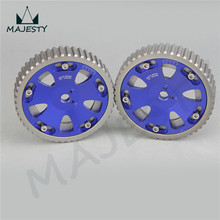 CAM GEARS Pulley KIT MI TSUBISHI EVO 1 2 3 4 5 6 7 8 9 ECLIPSE DSM 4G63 2PCS blue