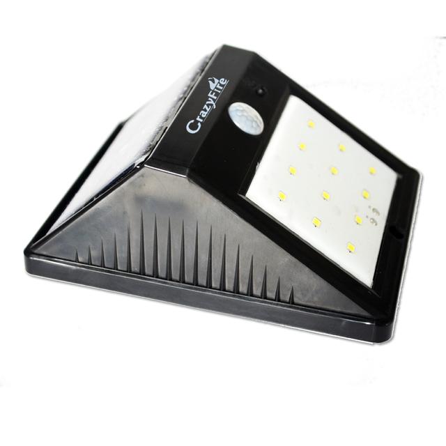 Wireless Motion Sensor Solar Lamp Lights 12 LED Night Light Solar Power Lamp For Garden Path Patio Security Lighting Free Ship