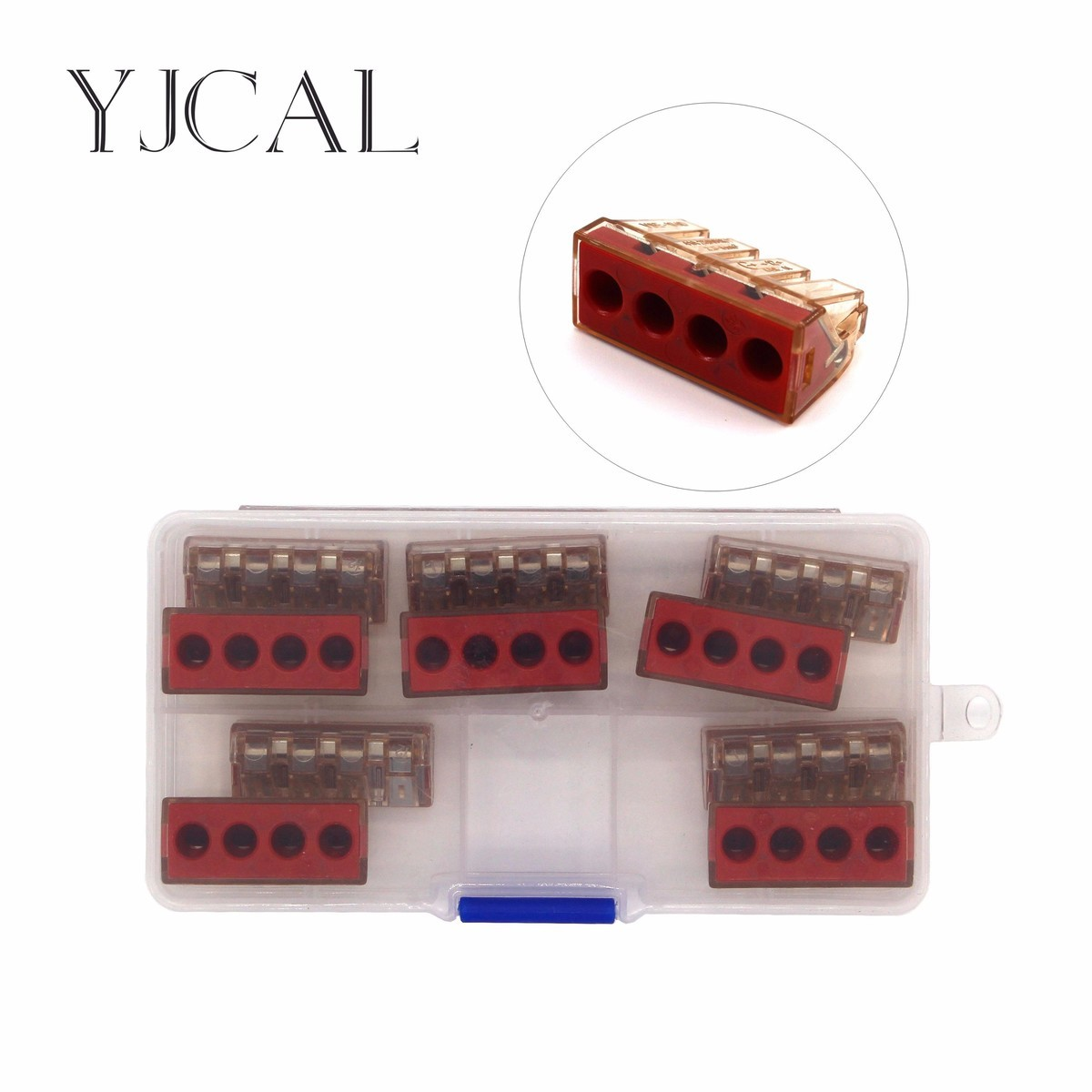 Wago Type D 104 10PCS/box Wire Terminal Quick Connector Plug Line Deconcentrator  Insulated Joint High current and high power 10pcs lot 5set t type red soft fast electric wire connecting terminal without breaking line connector non destructive connector