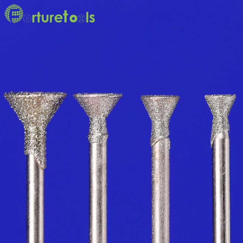 50 stks diamant gemonteerde punt dremel roterende gereedschap - Schurende gereedschappen - Foto 4
