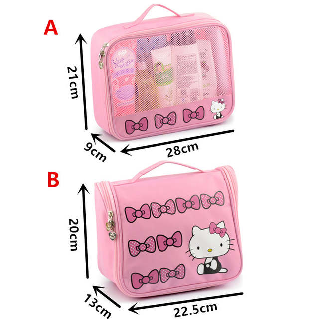 6f0f992c58 placeholder Hello Kitty Toiletry Shower Bag With Hanging Hook Cosmetic Make  Up Organizer Bag With Mesh Pocket