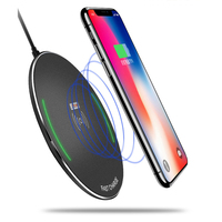 Fast Wireless Charging For Samsung S8 NOTE8 S6 S7 10W Max Power Wireless Charger Pad For iPhone 8 X Dropshipping Wholesale