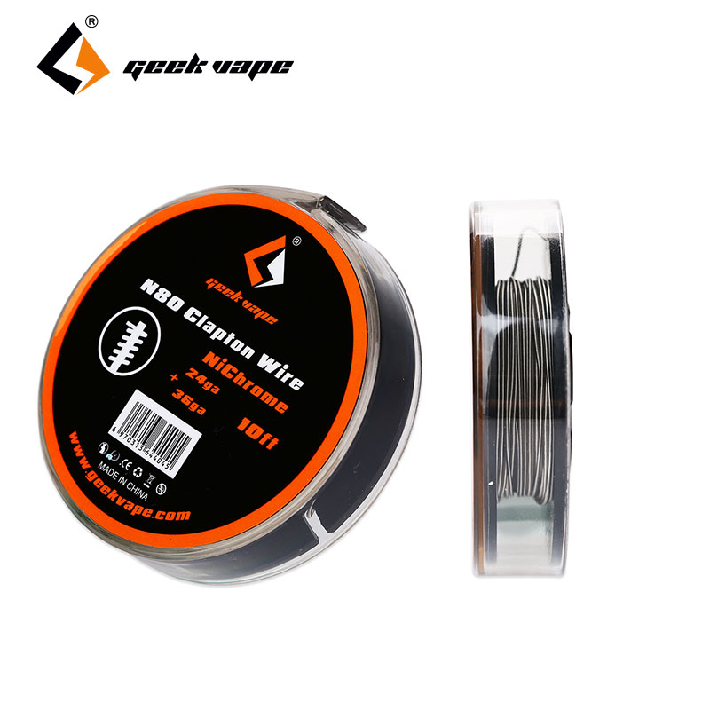 Original 10ft/3m GeekVape <font><b>N80</b></font> Fused Clapton <font><b>Wire</b></font> 24GA + 36GA Nichrome <font><b>wire</b></font> RDA/RTA/RDTA for DIY Electronic cigarette image