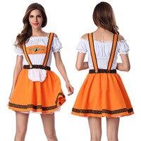 Sexy Halloween Maid Costume German Beer Girl Costume Oktoberfest Wench Fancy Club Bar Dress Cosplay Party