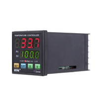 Digital LED PID Temperature Controller Thermometer Heating Cooling Control Thermocouple VSR 2 Alarms Relay 0 10V