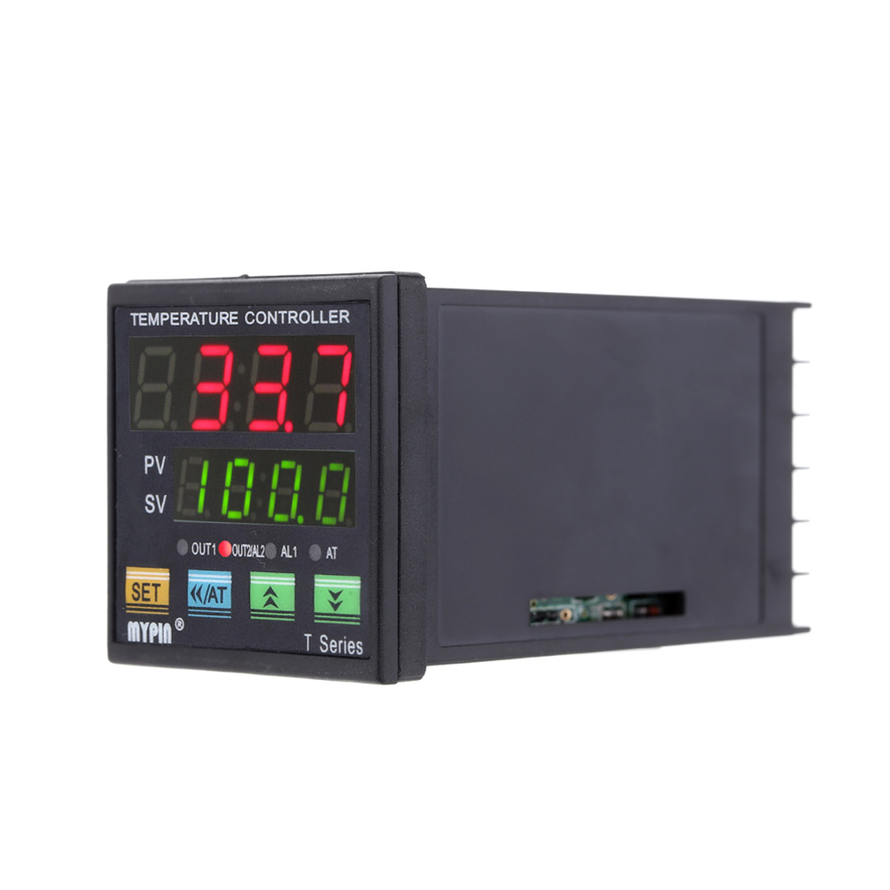Digital LED PID Temperature Controller Thermometer Heating Cooling Control Thermocouple VSR 2 Alarms Relay 0-10V Analog Output цена