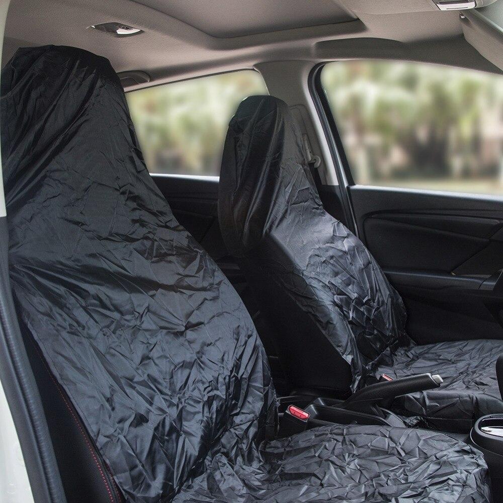 Aumohall 2 шт. Water Proof автомобильный Чехлы для сидений мотоциклов пыли нейлон переднем сиденье автомобиля протектор Универсальный Fit