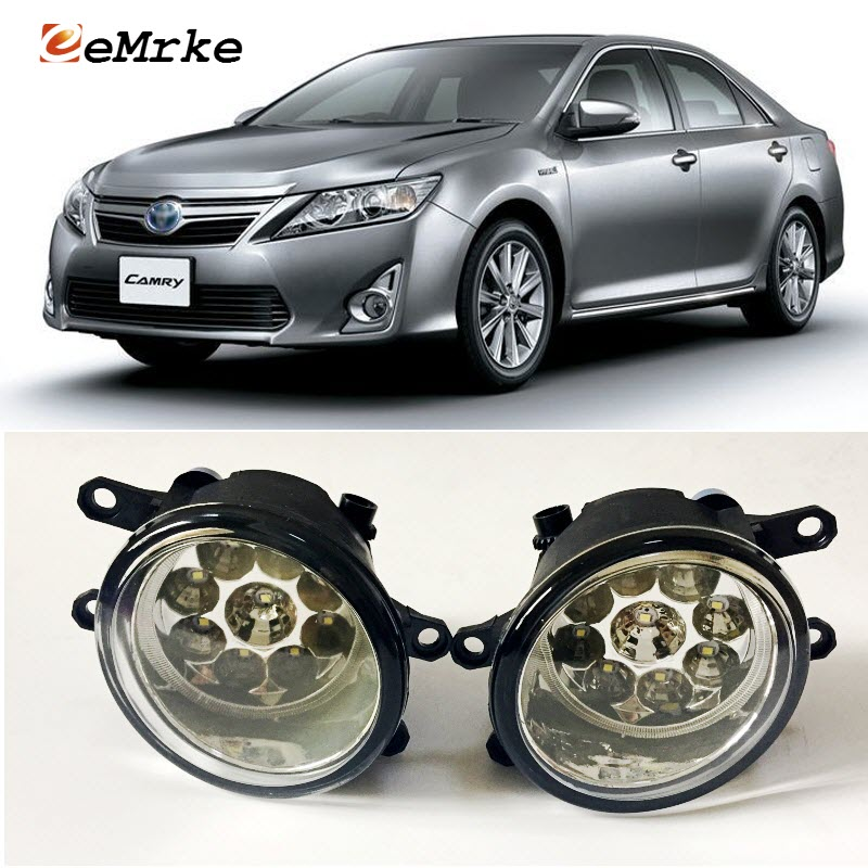 EEMRKE voiture-style pour Toyota Camry Aurion SE 2011-2016 9 pièces Led halogène phares anti-brouillard 12 V 55 W