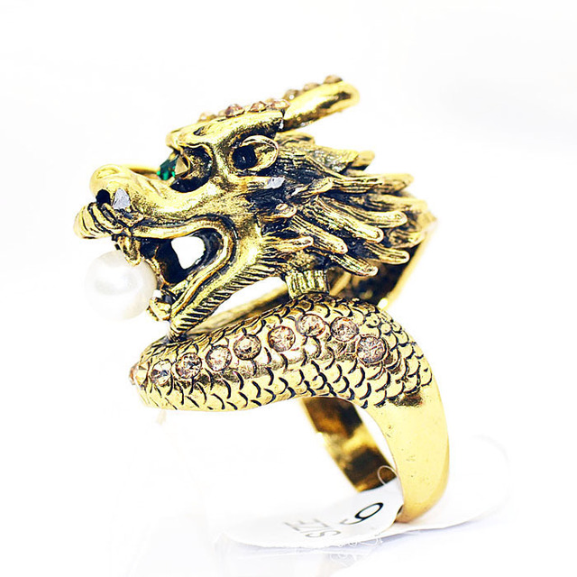 Chinese style accessories vintage ring finger ring male Women