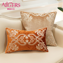 European-style decorative pattern Cushion Cover Flannelette embroidery of  Home Decorative Pillow for Sofa Cojines