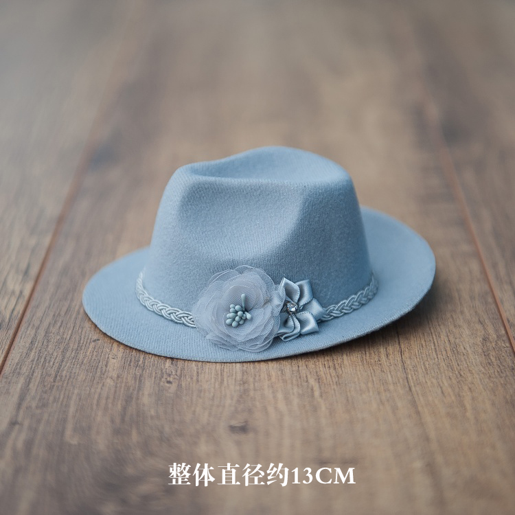 Newborn photography props polychromatic cowboy hat photo headwear small decorative accessories modeling headwear hat in Hats Caps from Mother Kids
