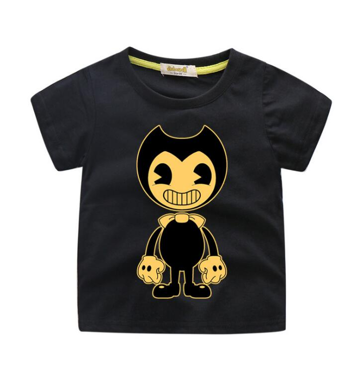 Kids Cartoon Bendy Game Print Tees Top Costume For Boys Summer Shirt Clothing Girls Clothes Children T-shirts Baby T Shirt TX123Kids Cartoon Bendy Game Print Tees Top Costume For Boys Summer Shirt Clothing Girls Clothes Children T-shirts Baby T Shirt TX123