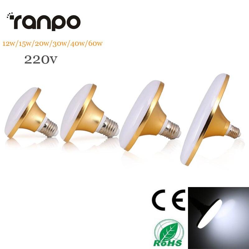 все цены на UFO LED Bulb SMD5730 E27 Lampara Ampoule Lamps AC220V 12W 15W 20W 30W 40W 60W Energy Saving Led Lights Smart IC Control Bulbs онлайн