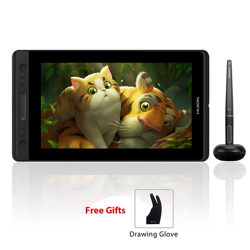 HUION Kamvas Pro 13 GT-133 Tilt Supporto Penna senza Batteria Tavoletta Grafica Display Monitor con Espresso Chiavi e tocco Bar