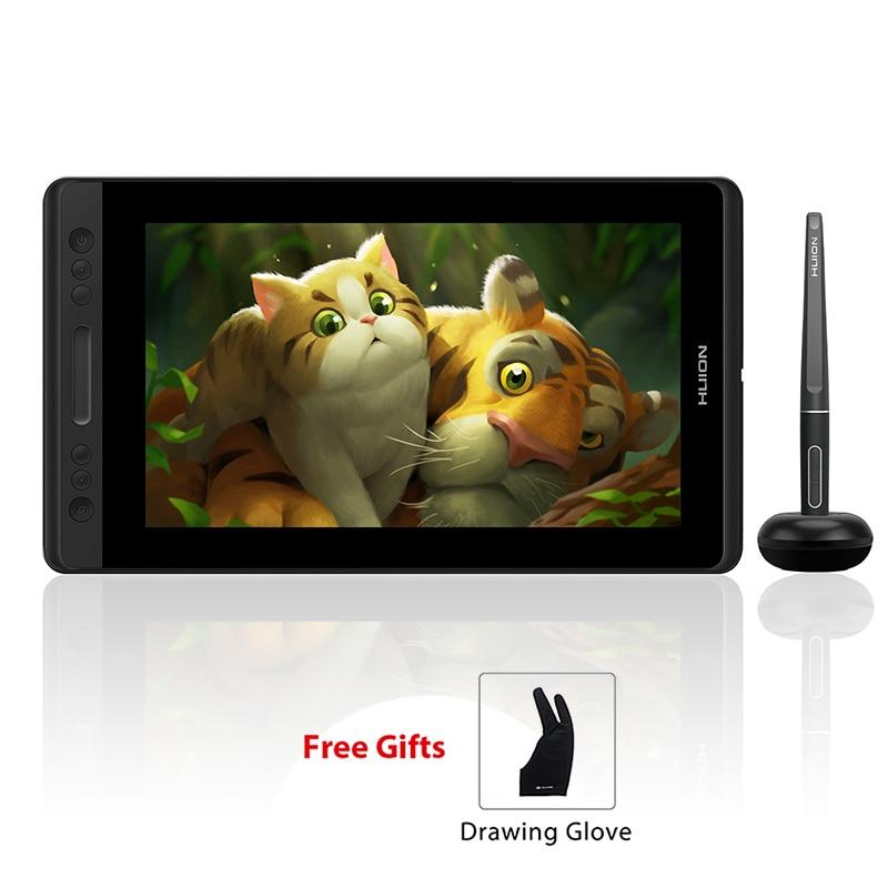 HUION Kamvas Pro 13 GT-133 Tilt Suporte Da Bateria-Free Caneta de Desenho Gráfico Tablet Monitor com Teclas Expressas e barra de toque