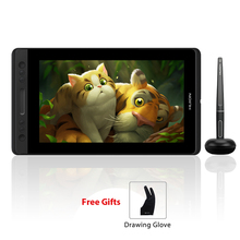 Huion Kamvas Pro 13 GT 133 Tablet graficzny z wyświetlaczem i rysikiem, rysik nie wymaga baterii, podstawka do ustawienia urządzenia pod kątem, klawisze szybkiego dostępu i panel dotykowy, tablety graficzne